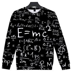 남성 까마귀 수학 공식 인쇄 느슨한 여성 의류 남성 후드 운동복 남성 여성 의류 Plub 크기 힙합
