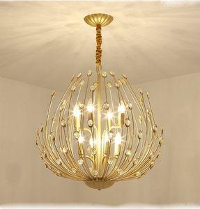 Cristal Ouro Modern Chandelier iluminação para sala de estar quarto cozinha de luxo Luster lustres de teto luminárias