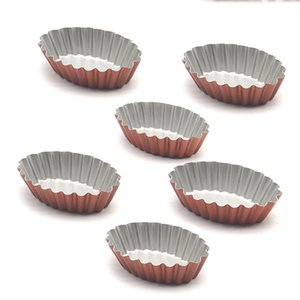 12-Pack Oval Egg Tart Mold, Cupcake and Muffin Baking Cup, NonStick bakeware Baking Tools by Leeseph Y200618