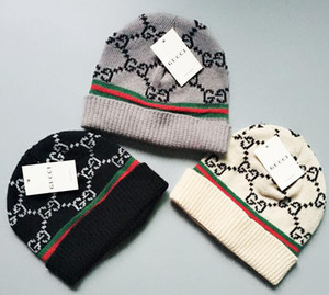 2019 Herbst-Winter-Hüte für Frauen Männer Marken-Designer Fashion Mützen Skullies Chapeu Caps Cotton Gorros Touca De Inverno Macka cap1314