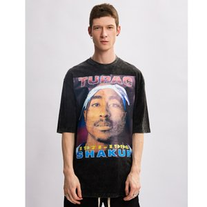 New Black XL Original-O Ansatz lose Baumwoll-T-Shirts Männer und Frauen Short Sleeve Aufmaß Street T-Shirt Hip Hop Sommer Top Tees
