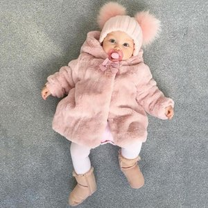 Kids Baby Girl Boy Clothes Fleece Thick Winter Warm Hooded Fur Fuzzy Long Sleeve Coat Jacket Cute Cardigan Outerwear 2019 New