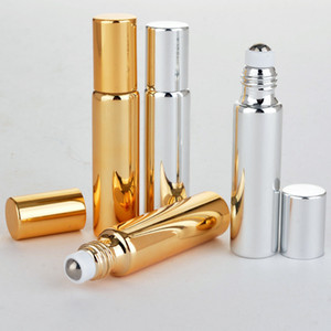 5ml 10ml Roll On Glass Bottle Refillable Essential Oil Perfume Bottles Portable Empty Cosmetic Containers Bottle