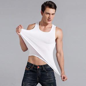 2020 Nouvelle Arrivée Hommes Exercise Fitness Vêtements Hommes Veste couleur unie port confortable Gilet M-3XL # 1