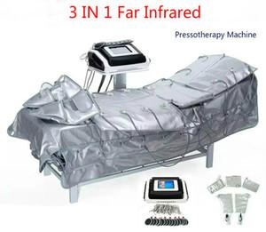 3 en 1 muscular infrarrojo lejano Presoterapia ccsme eléctrico Presión Estimulación Sauna Aire Presoterapia Drenaje Linfático cuerpo adelgazar máquina