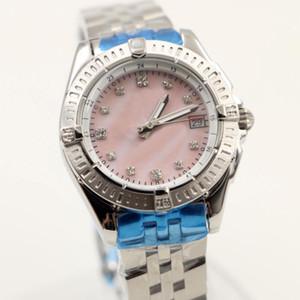 Reloj de pulsera para mujer B01 Pink Pearl Dial Superocean Movimiento de cuarzo 1884 Galáctico Plata Acero Damas Relojes de pulsera Relojes de moda para mujer