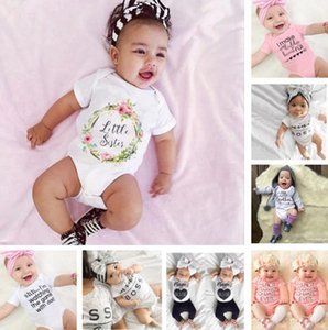 Baby Girl Clothes Letter Printed Infant Girls Romper Short Sleeve Newborn Jumpsuit Cute Toddler Playsuit Summer Baby Clothing 14 Styles 5293
