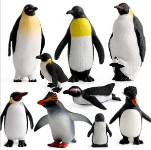 9 Style Penguin model toy Action Figures Marine Animal Simulation Penguin Static Model Creative Home Decoration Children Toys