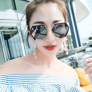 Polarized Polygon Sunglasses Female Korean Style Student Fashion Men Driving Sunglasses Cool Net Red Celebrity Inspired round Face Glasses