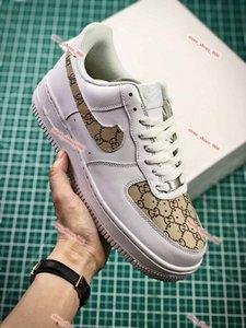 GUCCI Nike AIR FORCE 1 shoes 2020 para MenWomen alta qualidade one 1 Calçados casuais Low Cut Todos Branco Preto Cor Casual Air No.1 Sneakers calçados esportivos Tamanho 36-45