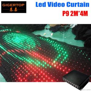 P9 2M * 4M PC Mode Controller LED Video-Vorhang für Hochzeit Kulisse Customized Feuerbeständige Lichtvorhang DJ Bühne Hintergrund