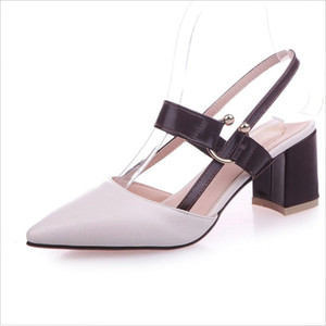 6CM Thick Heel with Straps Pointed Toe Ladies Shoes Pumps Fashion Simple Versatile Comfortable Chunky Heels Pumps Zapatos Elegantes Sandales