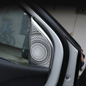 Araba Şekillendirme Tweeter Hoparlörler Çerçeve Dekorasyon Kapak Çıkartmaları Mercedes Benz B Class W247 2020 Ses Hoparlör Trim çıkartması için
