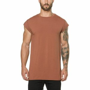 Mens Cotton Fitness Athletic Gym Muscle Tops Casual Training Fitness T-Shirt