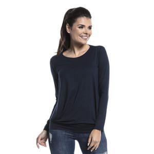 Грудное вскармливание топ футболка осень с длинным рукавом материнства рубашка одежда для беременных сплошной цвет пуловер хлопок невидимый грудное вскармливание 11