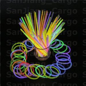 Colorido da vara pulseira colares Festa Neon Glow LED piscando Light Stick Wand luminosa Novidade Toy vocais Sticks concerto baratos E31008