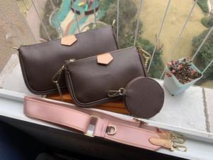 높은 qulity에 우레탄 휴대 전화 가방 지갑 세 조각 2018 새로운 3 -에 - 하나의 체인 가방 어깨 가방 메신저 가방 크로스 바디 # L998V