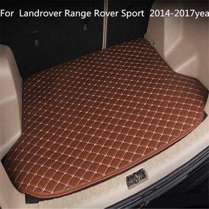Para Land Rover Range Rover Sport 2014-2017year s coche antideslizante Mat tronco cuero resistente al agua de la alfombra maletero del coche Mat cojín plano