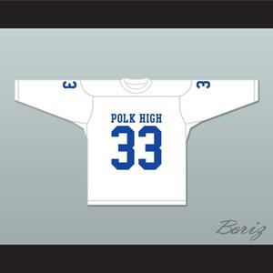 Al Bundy 33 Polk Escuela Secundaria blanca Jersey del hockey Casado Con Hijos cosido encargo cualquier nombre cualquier número del envío de la S-XXXL