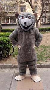 rata de Halloween traje de la mascota de Rink Rat historieta de la alta calidad del ratón animado de carácter tema de los trajes de fiesta de Navidad de lujo del carnaval