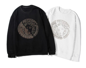 A mais recente camisola de algodão high-end Heavy work requintado perfuração quente Senior sportswear Top roupas femininas dos homens Moda casaco de rua