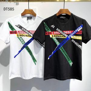 Dsquared2 DS2 DSQ2 20ss Disco Punk Baskı İtalya Tasarımcılar T-GÖMLEK Erkekler Gömlek Streetwear Erkek Kadın Şort Tişört Harajuku Kısa Tee Giyim DT585 Tops