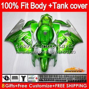 Para la inyección ZX12R verde KAWASAKI ZX 12R 1200 cc ZX1200 plateada 02 03 04 05 06 52HC.21 ZX 12 R ZX12R 2002 2003 2004 2005 2006 OEM carenados