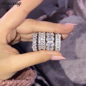 17 Styles Lovers Promise Anello 5A Zircon cz 925 anelli in argento sterling con fedi per le donne uomini gioielli partito migliore regalo