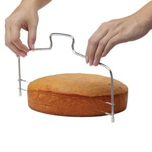 Aço inoxidável ajustável fio Bolo Slicer Leveler Pizza Dough cortador Trimmer ktchen Acessórios Ferramenta Baking
