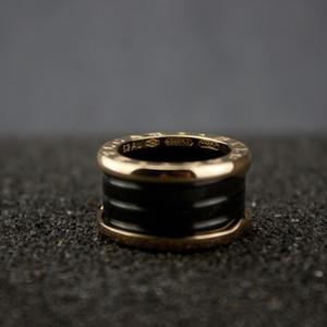 Frauen Wide Rose Gold Keramik Ringe Charms Spiral Ring Valentinstag Feine Hochzeit Schmuck