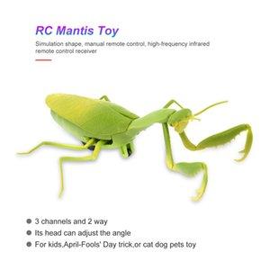 Infrared Remote elettrico Forma di controllo Simula Mantis Prank Toy realistica Mini RC mantide insetto spaventoso trucco bambini giocattoli