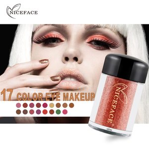 NICEFACE Glisten Eye Makeup Glitter Shimmer Eye Shadow 17 Colors Eyeshadow Pearl Pigment Eyes Make up Powder Glitter