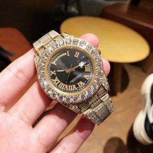 nuovo di alta qualità di business 45mmX13mm Reloj de Lujo 316 orologio di diamanti in acciaio inox montre de luxe relógio de luxo