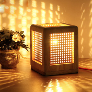 هدايا عيد الميلاد الفن الحديث ديكو الجدول مصباح منضدة خشبية مصباح الإبداعية ليلة ضوء الكتاب LED E27 مصباح قاعدة 110V-240V الولايات المتحدة المملكة المتحدة الاتحاد الافريقي قابس الاتحاد الأوروبي