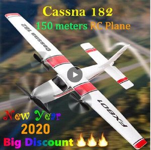 2020 Beginner Electric RC Airplane RTF Epp Foam UAV Remote Control Glider Plane Kit Cassna 182 Aircraf More Battery Increase Fly Time