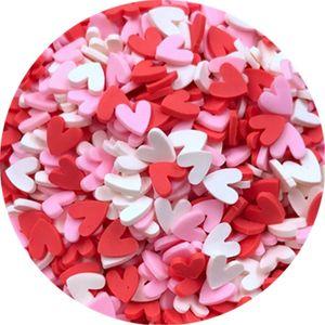 5 mm Mignon vente chaud coloré coeur argile Sprinkles pour l'artisanat Slime Making polymère coeurs argile Confetti coeur Fournitures Nail Art Décor Slime
