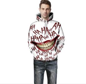 Man Hoodies Moda Laugh engraçado Donna Tops Primavera e Outono Casais Matching Clothes Big Mouth Imprimir