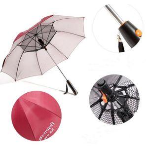 Long-Handle Summer red Umbrella with Fan Rain and Rain Dual-use Umbrella Fan New arrive
