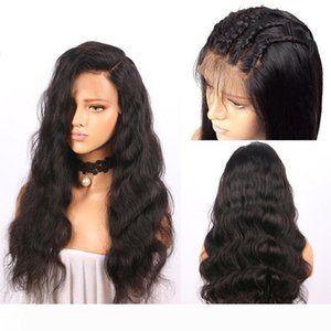 Pre Plucked Brazilian Human Hair Lace Front Wigs With Baby Hair Popular Body Wave Medium Size Swiss Lace Front Wig Natural Color