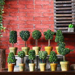 Retro flor simulação bonsai casa selvagens criativas ornamentos vários estilos de mini falso ambiente de trabalho vaso decoração EEA409