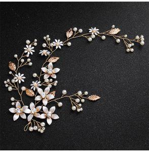 Neueste Mode Handgemachte Blüte Kopfschmuck Hochzeit Perlen Stirnbänder Brautschmuck Haarschmuck für Frauen Frisur JCG128