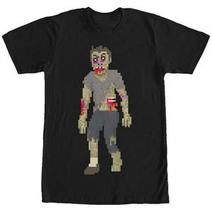 Verlorene Götter Halloween Pixelated Zombie-Männer-Grafik-T-Shirt
