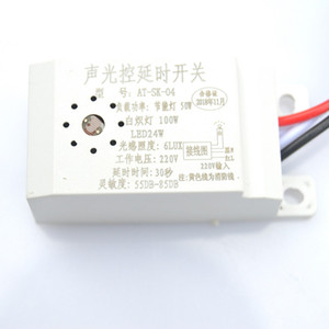 220V Ultra Intelligent Sound Light Operated Delay Switch for Ceiling Lamp Built In Sound and Light Control 30 Seconds Delay