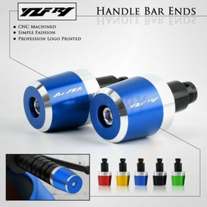 """Motorcycle 7 8"""" 22mm Handlebar Handle Bar End Grips Weight Plugs Cap Cover For Yamaha YZF-R1 YZFR1 YZF R1 R1M R1S"""
