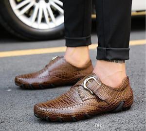 حقيقي بقرة جلد الرجال ملابس والاحذية الرجالية ذات جودة عالية مصمم الفاخرة الأنيقة الكلاسيكية الأحذية الرسمية الذكور # KB3004-3