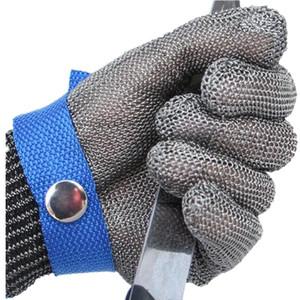 Guanti da lavoro all'ingrosso antitaglio Stab anti-taglio resistente in acciaio inox maglia del metallo Butcher High Performance Proteggere Guanti cavo di sicurezza