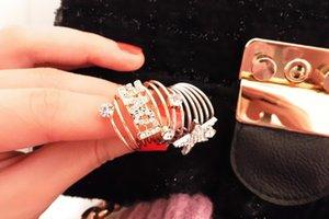 Обручальные кольца Элегантные горный хрусталь Пентаграмма звезды любят спираль весной пальцем кольцо обручальное кольцо