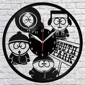 South Park Vinyl Record Wall Clock Fan Art Decor Decor