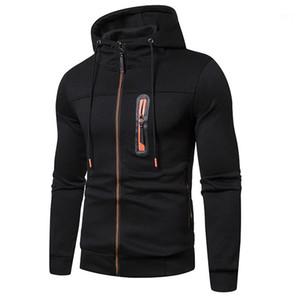 Long Sleeve Male Sweatshirts Simple Hooded Zipper Mens Hoodies Sport Fitness Men Designer Clothing Fashionable Casual
