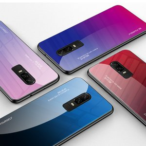 Colorido Gradiente vidro temperado capa para OnePlus 6 T6 7 7 Pro 7T Pro Asus Zenfone Max Pro M1 ZB602KL ZB601KL ZB633KL ZB631KL